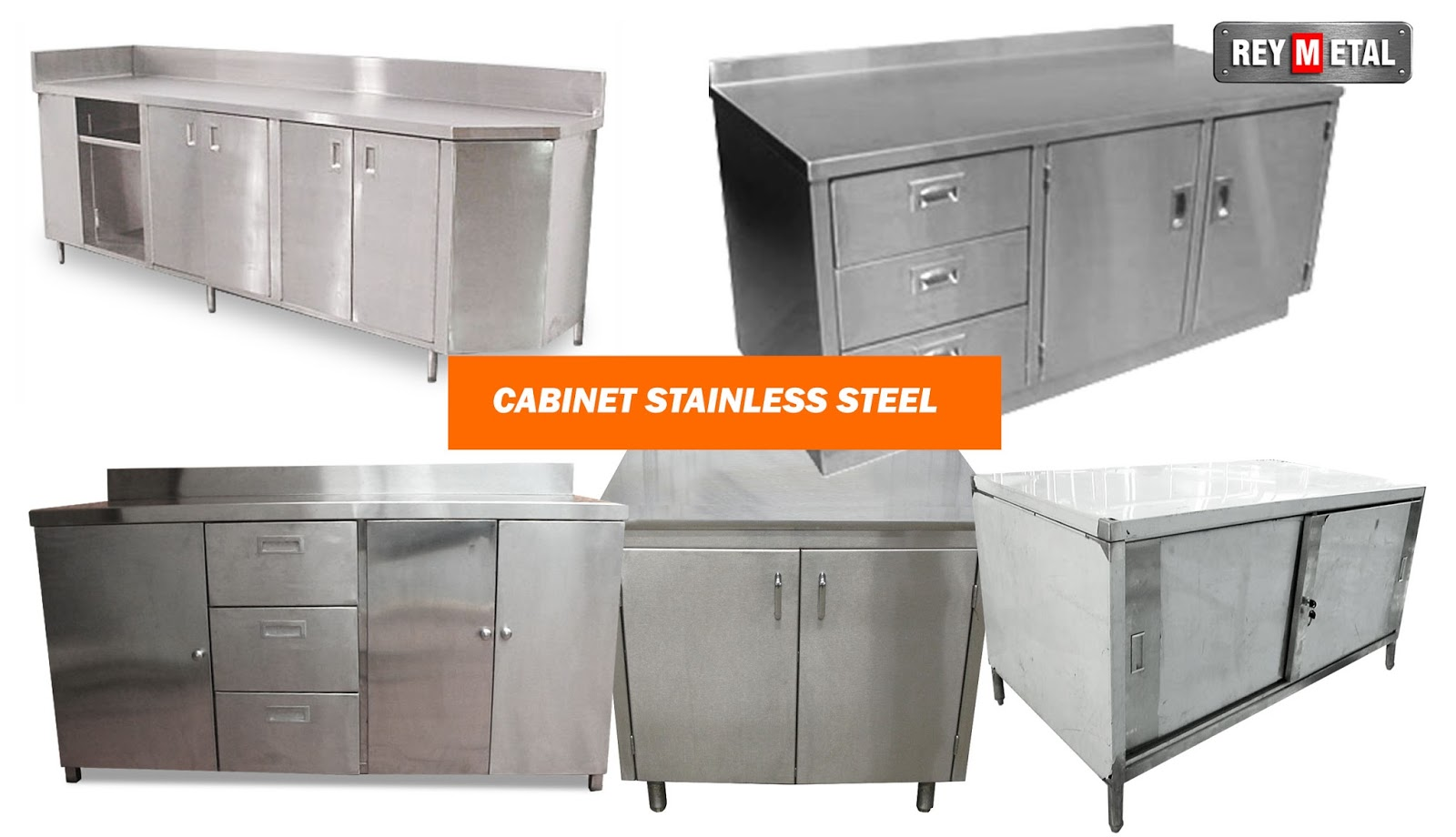 Cabinet stainless kitchen set