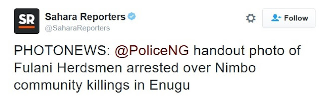 See the Evil faces of Fulani Herdsmen Arrested Over Nimbo Community Killings in Enugu (Photo)