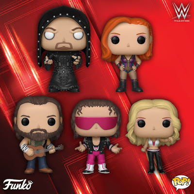 WWE Pop! Vinyl Figures Series 12 by Funko with Undertaker, Bret Hart, Becky Lynch, Trish Stratus & Elias