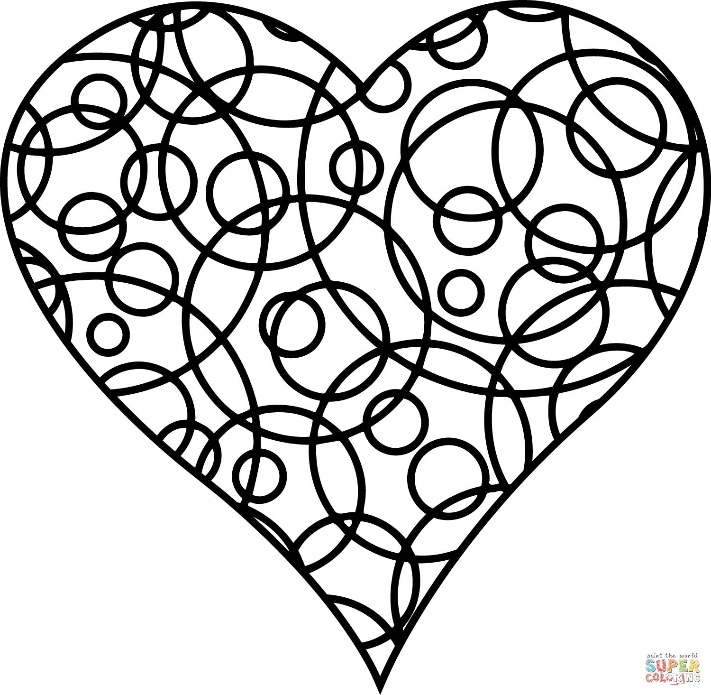 Herz Malen Auf Kariertem Papier