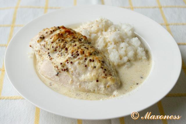 Запеченная курица в соусе из горчицы и пармезана