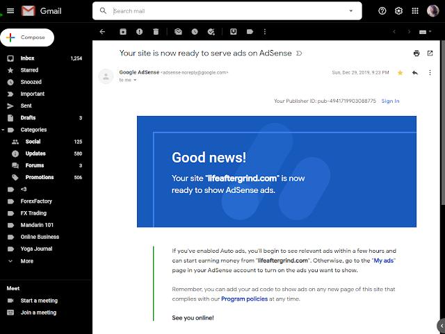 Applying for Google Adsense on Sites - Step 3
