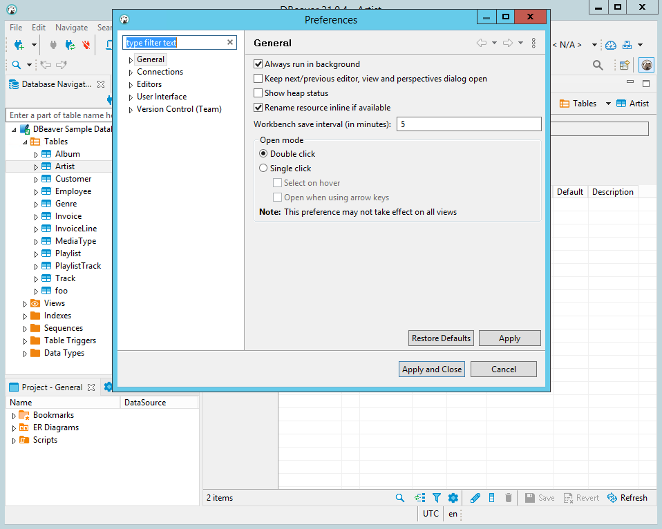 DBeaver 21.0.4