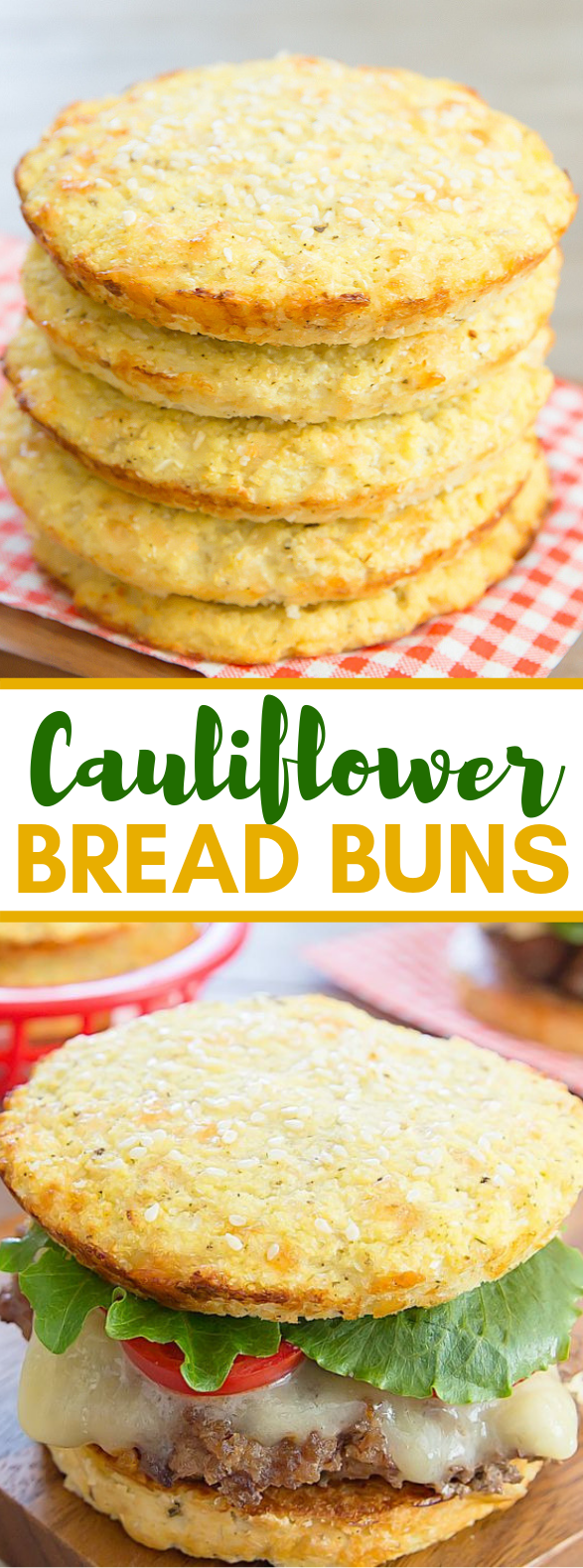 CAULIFLOWER BREAD BUNS #vegetarian #lowcarb
