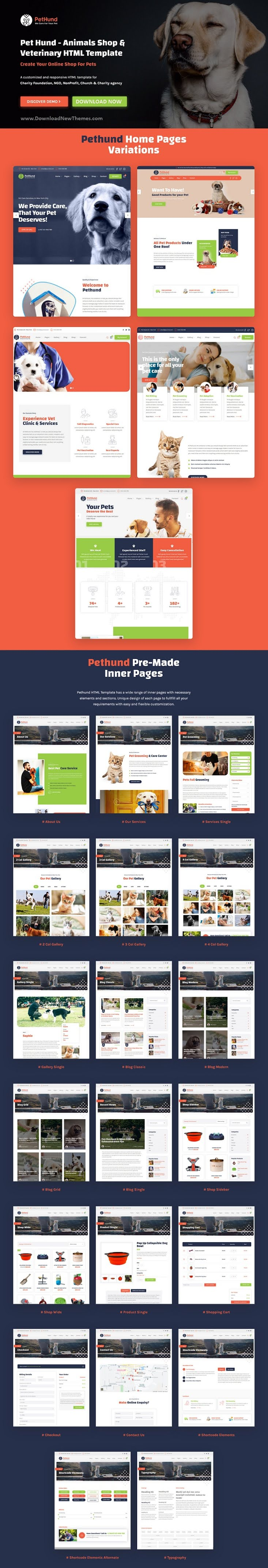 Animals Shop & Veterinary Bootstrap Template