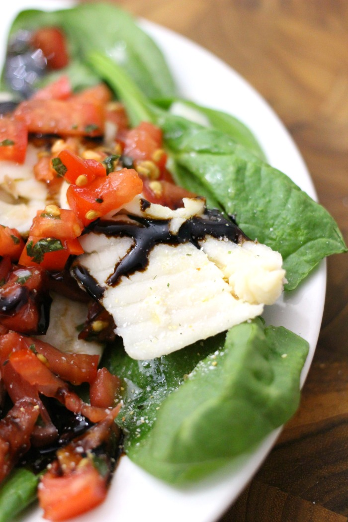 Roasted Tilapia with Bruschetta Topping Recipe