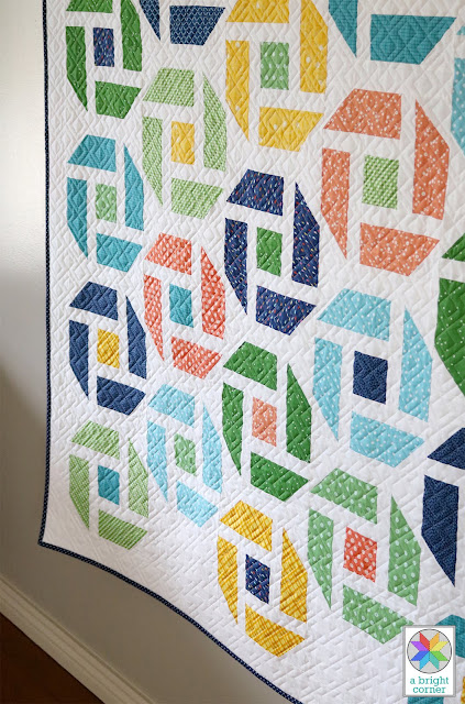 Cheer Up quilt pattern by Andy Knowlton of A Bright Corner - A Fat Quarter pattern in four sizes