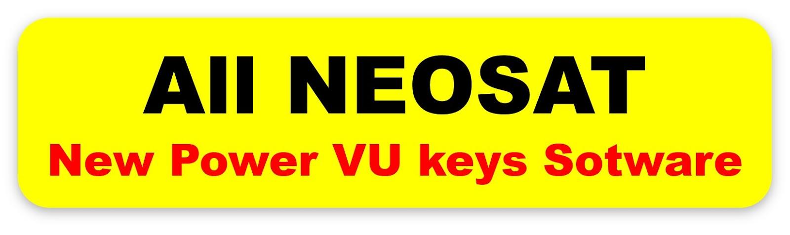 All Neosat HD Receivers New Power VU Keys Softwar in one