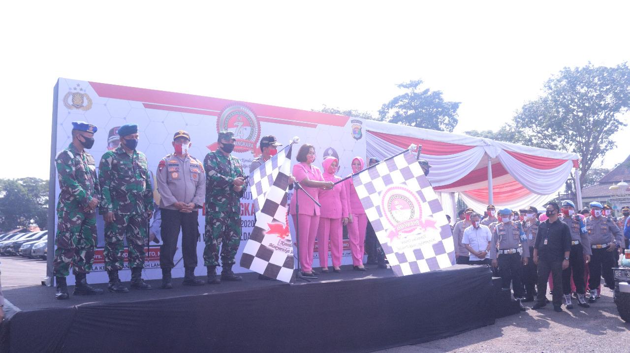 Ujud nyata bhakti Sosial Hari Bhayangkara ke-74.Polda Lampung