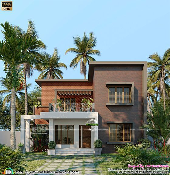 4 bedroom attached flat roof style home 2211 sq-ft