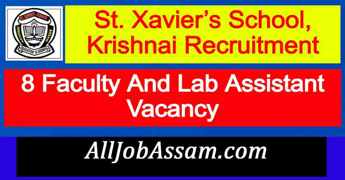 St. Xavier's School, Krishnai Recruitment 2021