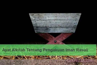 ayat alkitab tentang pengakuan iman rasuli