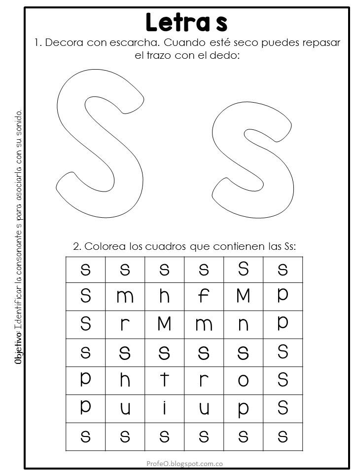 Recursos para el aula: Actividades y planeación para enseñar la letra s