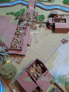 British defenders hold on in the village