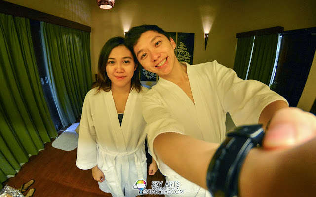 A selfie of us in the massage room @ Spa and Wellness Centre, The Banjaran