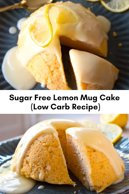 Sugar Free Lemon Mug Cake (Low Carb Recipe)