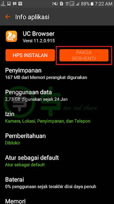 cara force stop aplikasi android