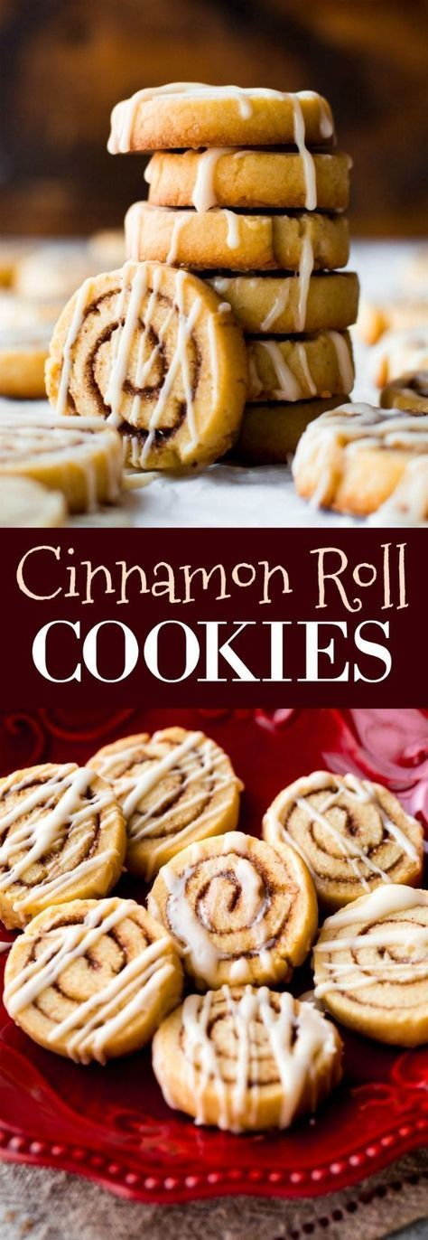 Little cinnamon roll cookies made from sugar cookie dough! Easy recipe