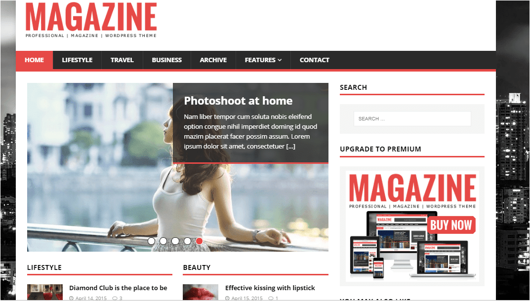 MH Magazine Wordpress themes free download