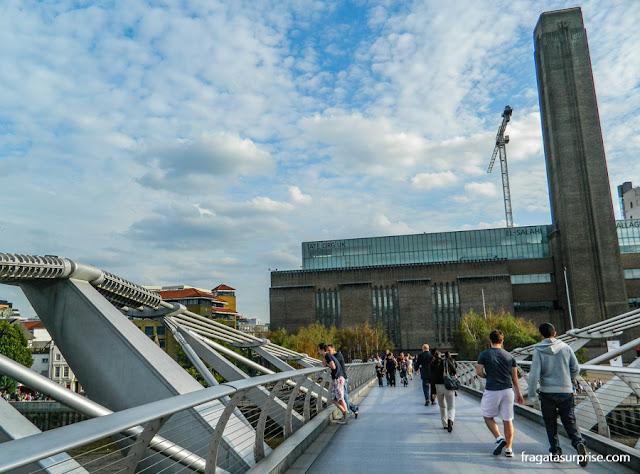 Londres: Galeria Tate Modern e Millenium Bridge