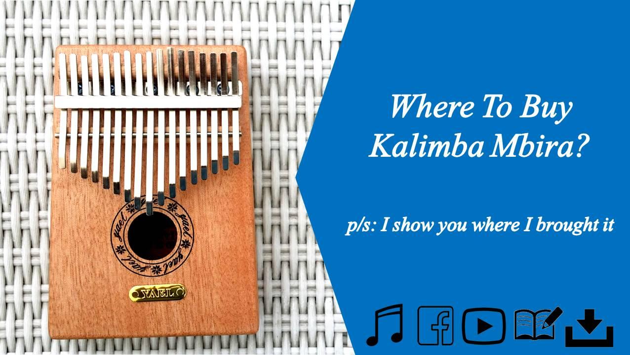 where to buy best price Kalimba Mbira 17 Notes Mahogani Full Solid