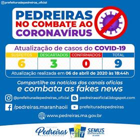 Mais dois casos suspeitos de coronavirus, um em Pedreiras e outro em Trizidela do Vale
