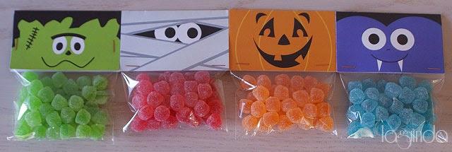 Decoración presentación bolsas caramelos halloween