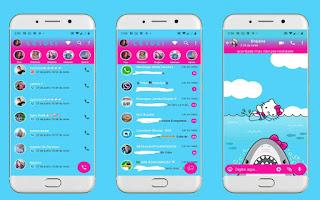 Hello Kitty in Shark Theme For YOWhatsApp & Fouad WhatsApp By Leidiane