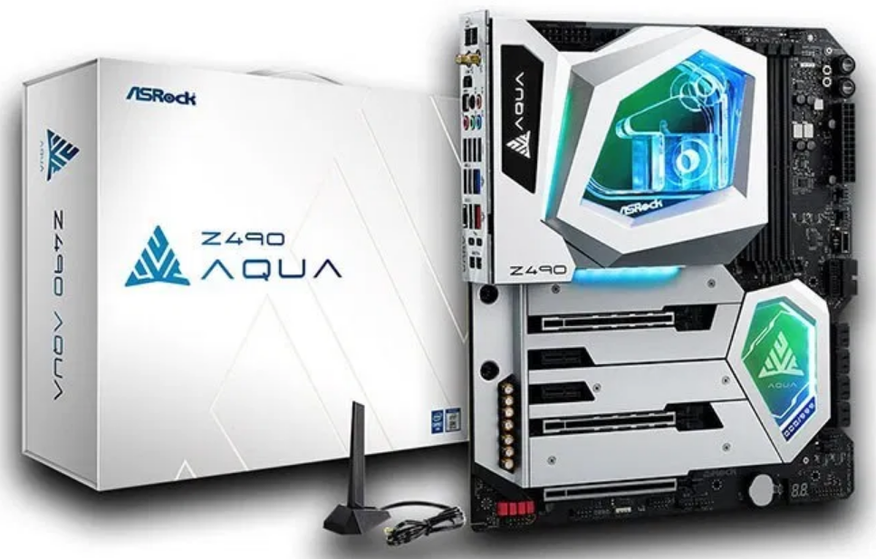 Z490 AQUA Announced as the Latest ASRock Mobo