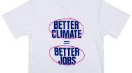 AOC better climate better jobs T Shirt