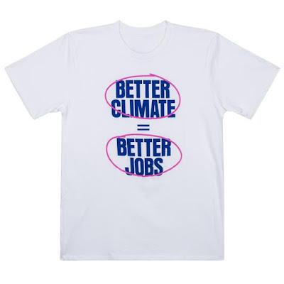 AOC better climate better jobs T Shirts