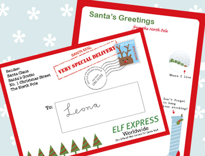 Letter From Santa Envelope - Santa Envelopes