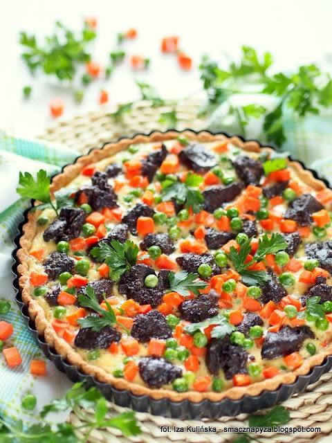 tarta wytrawna, co na obiad, zapiekanki, warzywa, podroby, kolorowe danie, mrozonki, mrozone warzywa, marchewka z groszkiem