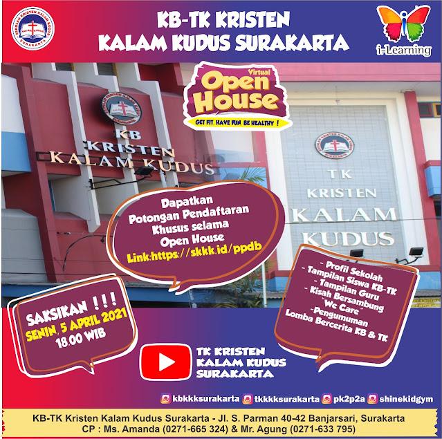 Virtual Open House KB-TK Kristen Kalam Kudus Surakarta