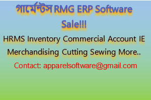 Web Based Garments Textile ERP Software for Sale