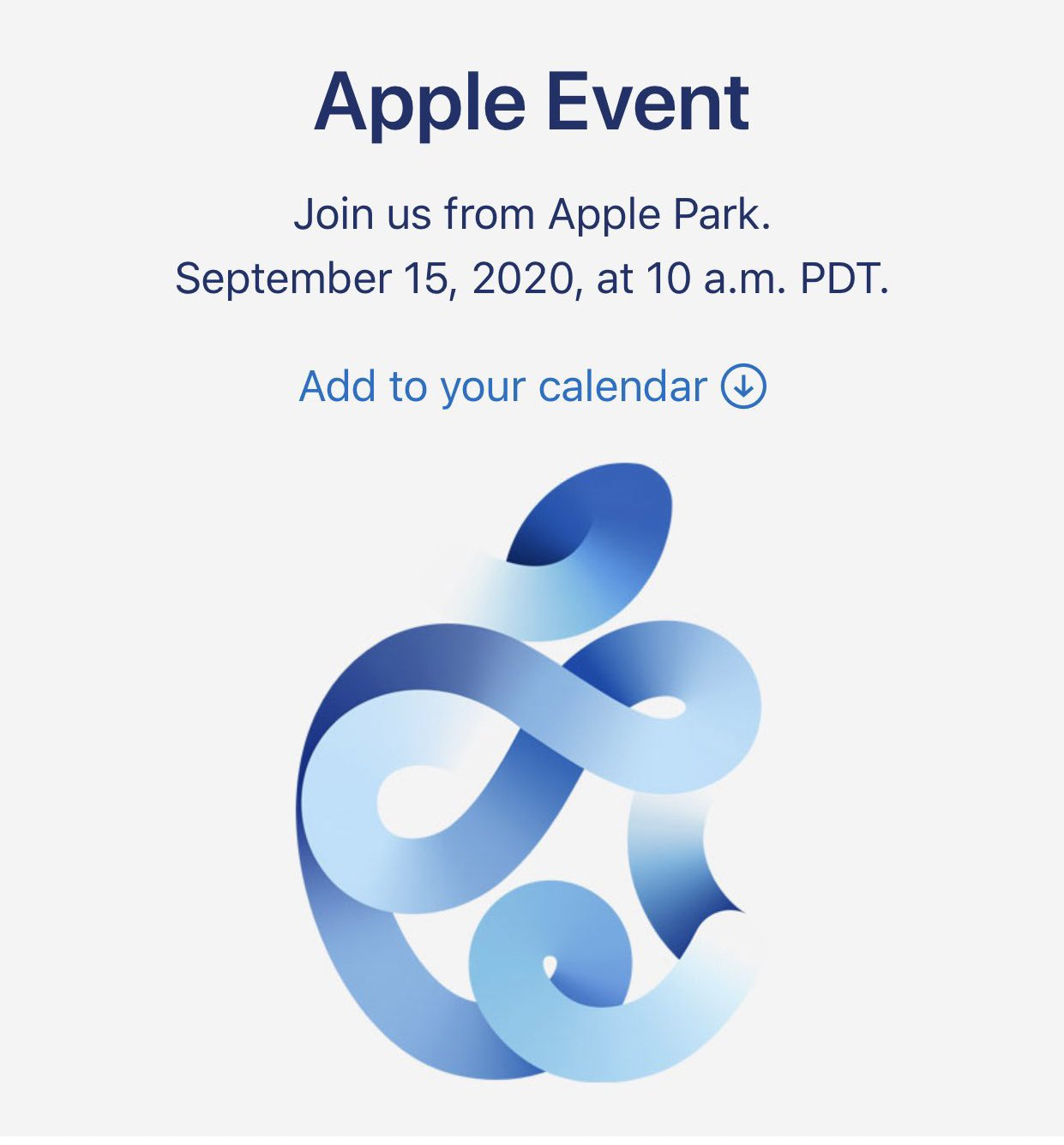 Apple Event il 15 settembre