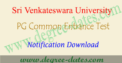 SVU PGCET 2017 notification pdf online apply hall ticket results svucet