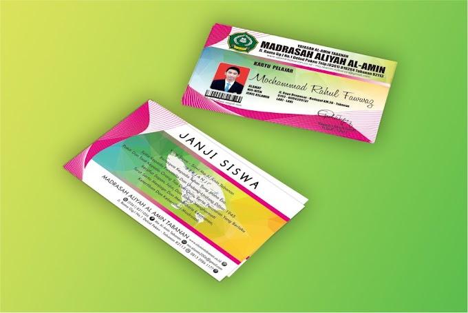 Download Desain Kartu Siswa Format PSD
