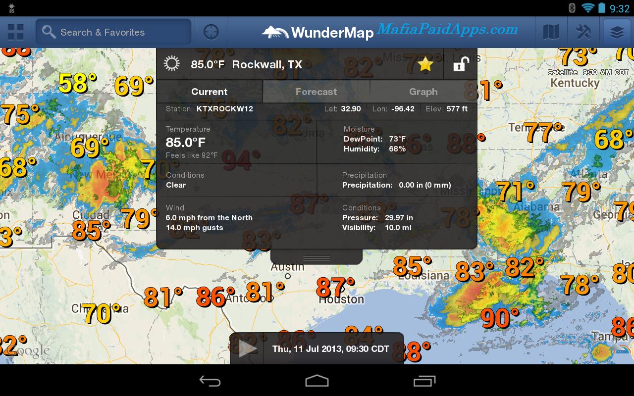 Weather Underground v4 1 Ad-free Apk | MafiaPaidApps com