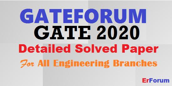 gateforum-gate-2020-solutions