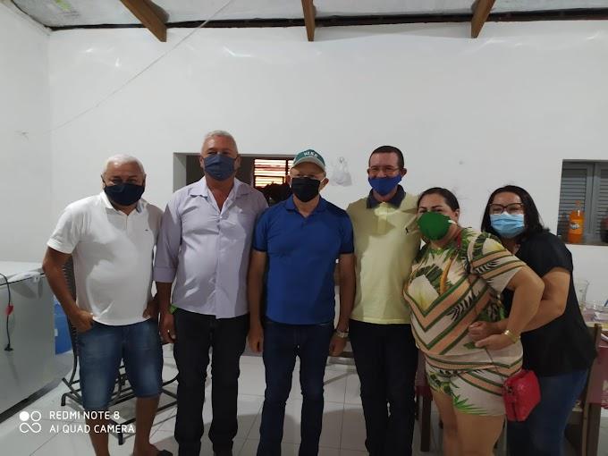 Prefeita Sandra Jaqueline recebe deputado Benes Leocádio em Fernando Pedroza