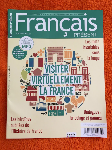 """Français Présent 56/2021"" - okładka czasopisma - Francuski przy kawie"