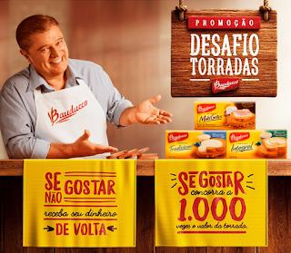Promoção Desafio Torradas Bauducco