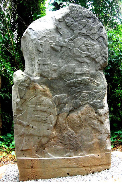 Stele 3, Olmec sculpture, La Venta Museum, Villahermos