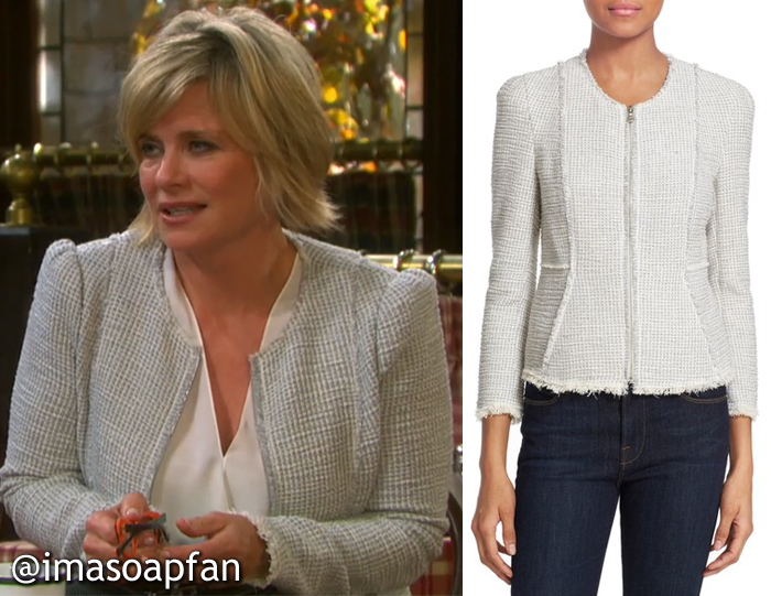 Kayla Brady, Mary Beth Evans, Days of Our Lives, Grey Tweed Jacket
