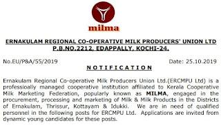 MILMA Plant Operator Gr III Previous Question Paper & Syllabus 2019