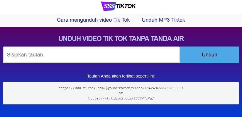 ssstiktok download video TikTok tanpa watermark