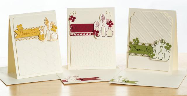Card set Stampin' Up! vivid vases ensemble de cartes