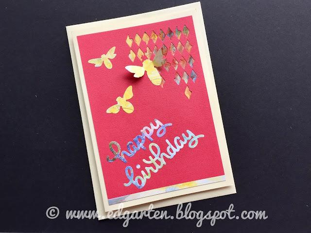 Geburtstagskarte mit Bienen