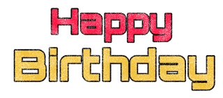 happy birthday png text